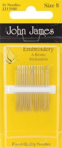 John James Embroidery needles - size 8