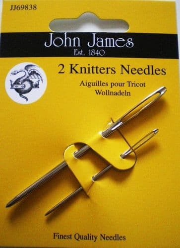 John James Knitters PK 2 needles - sizes 14/18