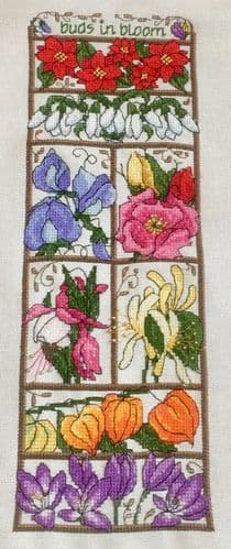 Lakeside Needlecraft Buds in Bloom PDF chart & kit options