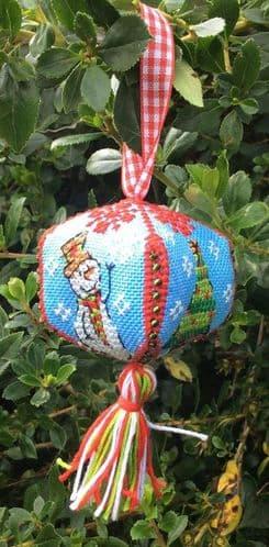Lakeside Needlecraft Christmas Ornament cross stitch chart & kit options