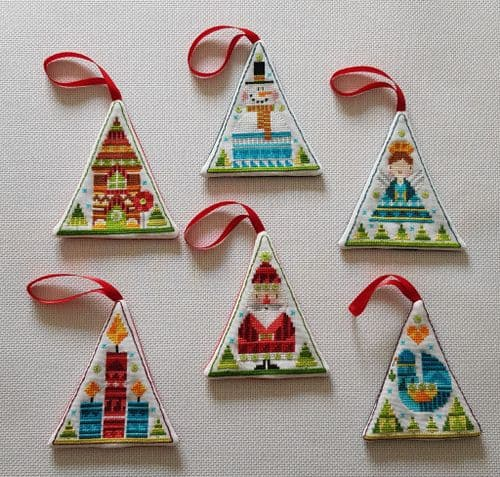 Lakeside Needlecraft Christmas Ornaments PDF cross stitch charts & kit options