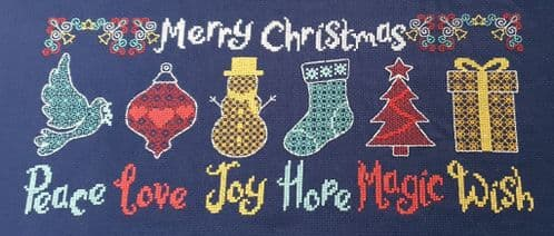 Lakeside Needlecraft Christmas Wishes PDF cross stitch chart & kit options