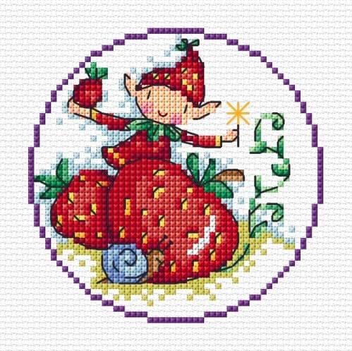 Lakeside Needlecraft Fantasy Elf cross stitch chart