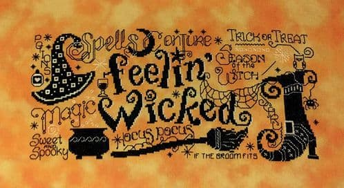 Lakeside Needlecraft Feelin' Wicked PDF cross stitch chart & kit options