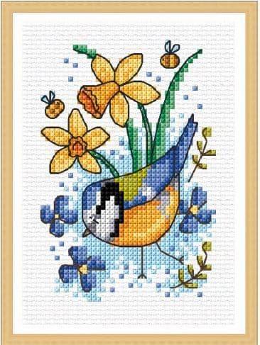 Lakeside Needlecraft Seasonal Birds - Spring Blue Tit cross stitch chart