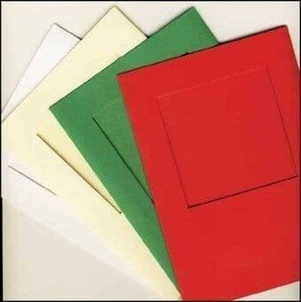 Large Green Square Opening Aperture Window Card & Envelopes -  5 Pack