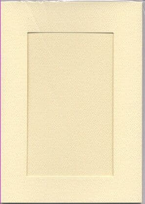 Large Ivory Rectangular Opening Aperture Window Card & Envelopes -  5 Pack