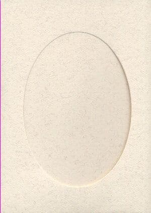 Large Parchment Oval Opening Aperture Window Card & Envelopes -  5 Pack