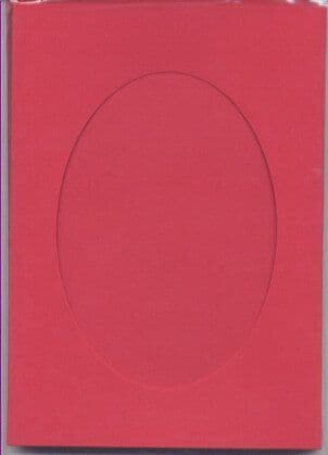 Large Red Oval Opening Aperture Window Card & Envelopes -  5 Pack