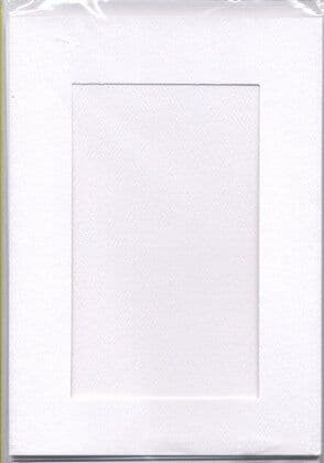 Large White Rectangular Opening Aperture Window Card & Envelopes -  5 Pack