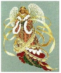 Lavender & Lace Angel of Christmas cross stitch chart