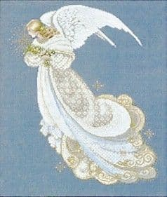 Lavender & Lace Angel of Dreams cross stitch chart