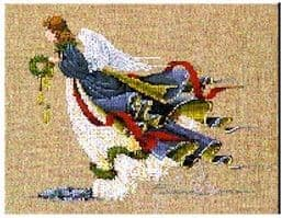 Lavender & Lace Angel of Freedom cross stitch chart