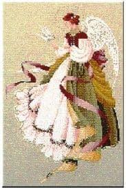 Lavender & Lace Angel of Grace cross stitch chart