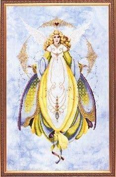 Lavender & Lace Angel of Healing cross stitch chart