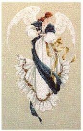 Lavender & Lace Angel of Hope cross stitch chart