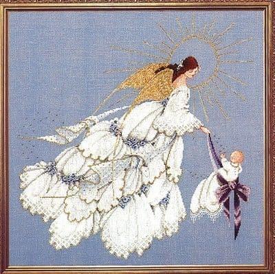 Lavender & Lace Angel of Mercy II cross stitch chart