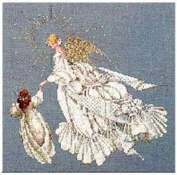Lavender & Lace Angel of Mercy cross stitch chart