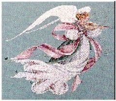 Lavender & Lace Angel of Spring cross stitch chart