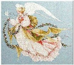 Lavender & Lace Angel of Summer cross stitch chart