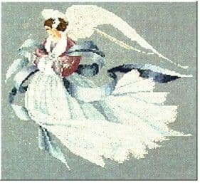Lavender & Lace Angel of Winter cross stitch chart
