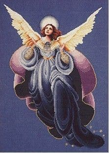 Lavender & Lace Angel of the Morning cross stitch chart