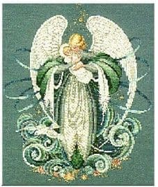 Lavender & Lace Angel of the Sea cross stitch chart