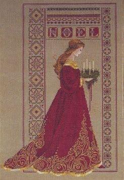Lavender & Lace Celtic Christmas cross stitch chart