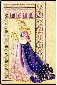 Lavender & Lace Celtic Spring cross stitch chart