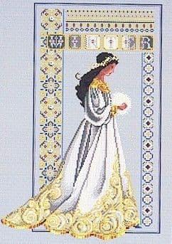 Lavender & Lace Celtic Winter cross stitch chart