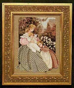 Lavender & Lace Morning Song cross stitch chart