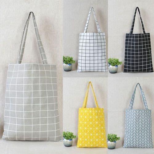 Linen Tote Bag - Grey