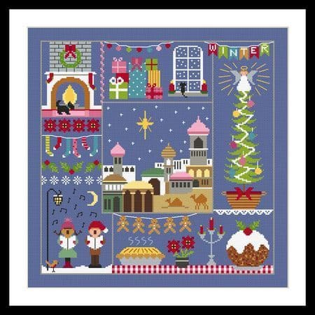 Little Dove Designs A Stitch For All Seasons - Winter printed cross stitch chart