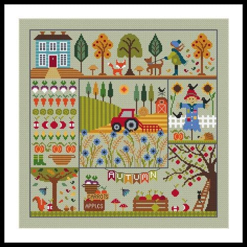 Little Dove Designs A Stitch for all Seasons - Autumn printed cross stitch chart