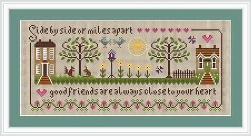 Little Dove Designs Friendship Sampler printed cross stitch chart