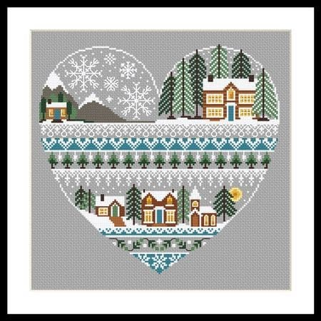 Little Dove Designs Heart of Winter printed cross stitch chart