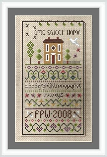 Little Dove Designs Home Sweet Home printed cross stitch chart