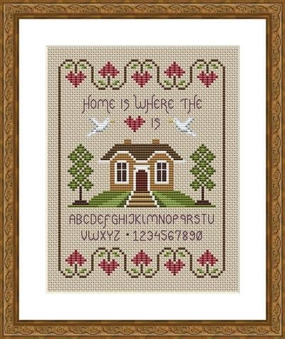 Little Dove Designs Home is Where the Heart is printed cross stitch chart