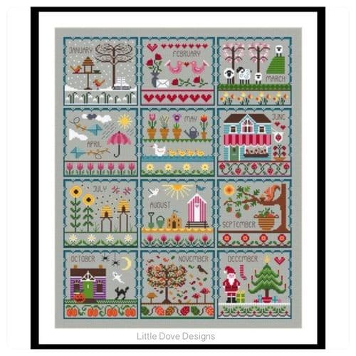 Little Dove Designs Little Dove's Year printed cross stitch chart
