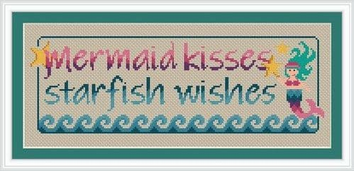 Little Dove Designs Mermaid Kisses printed cross stitch chart