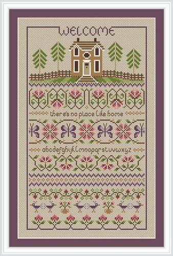 Little Dove Designs No Place Like Home printed cross stitch chart