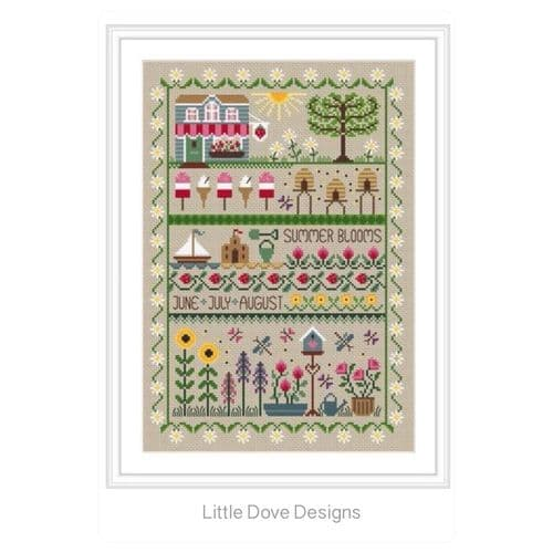 Little Dove Designs Summer Blooms printed cross stitch chart