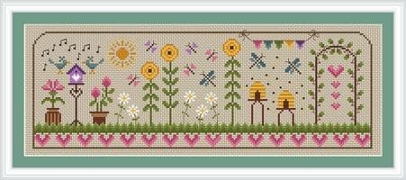 Little Dove Designs Summer Days printed cross stitch chart