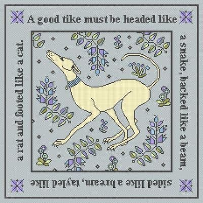 Long Dog Samplers A Good Tike printed cross stitch chart - LD94