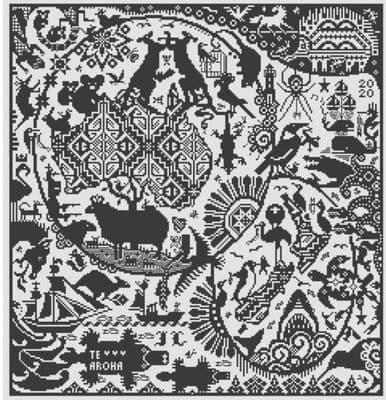 Long Dog Samplers Anzak printed cross stitch chart - LD106