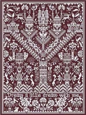 Long Dog Samplers Castles in the Air printed cross stitch chart - LD85