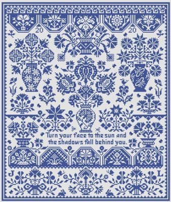 Long Dog Samplers Pavane for These Times printed cross stitch chart - LD107