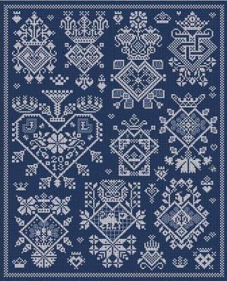 Long Dog Samplers Sacre Coeur printed cross stitch chart - LD77