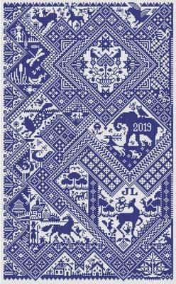 Long Dog Samplers Sans Soucis printed cross stitch chart - LD102