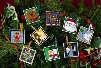 Mill Hill Advent Trilogy Ornament Set 1 beaded cross stitch kit